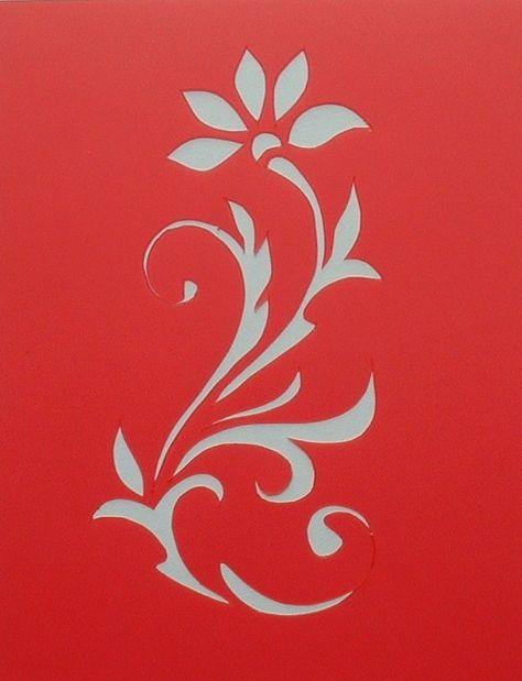 Tropical feuille Gabarit pochoir Maison d/écore de mur GABARIT ART ARTISANAT pochoir peinture murs TISSUS /& MEUBLES 190 Mylar r/éutilisable pochoir semi transparent pochoir S// 17X17CM