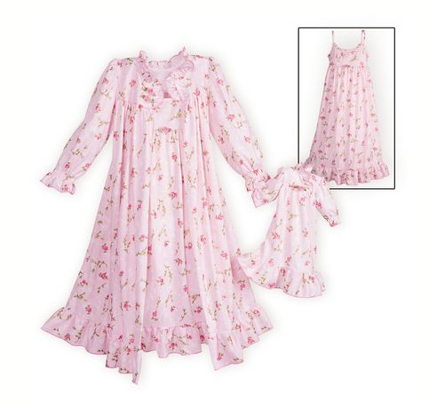 ee0344797074 Sweet Rosebud Prints Nightgown and Robe Set. A WOODEN SOLDIER ...
