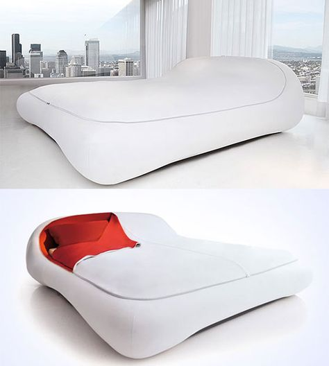 14 Unique and Exotic Bed Designs for Unusual Sleep Experience - cooles bett col letto wrapping bett lago