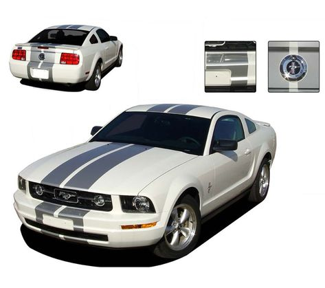 FT/&C 4 PCS New for Mustang Shelby Cobra Logo 60mm 2.36 Inches ABS Aluminum Chrome Car Custom Rim Wheel Hub Center Centre Cap Hubcaps Cover