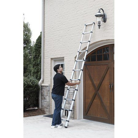 Aluminum Ladder With Pinch Free Soft Close Locking Mechanism 300 Pound Capacity 10 5 Ft Ladder With 14 Ft Max Reach Walmart Com Aluminium Ladder Ladder Cosco
