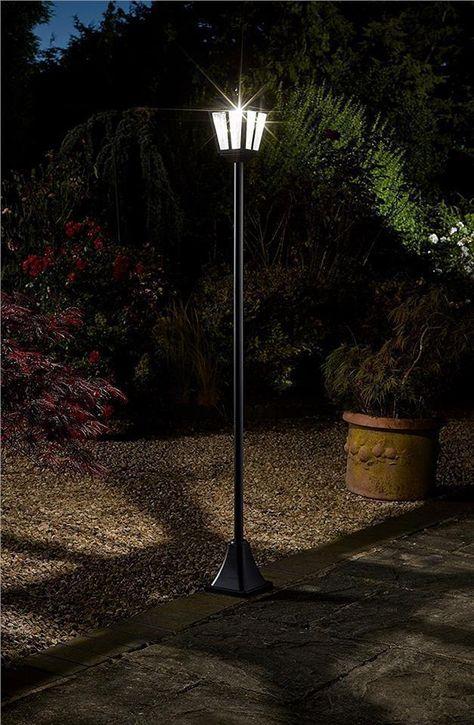 Victorian Solar Outdoor Lighting Bright Head Garden Path Lamp Post Lantern Light Garden Lamp Post Solar Lights Garden Solar Garden Lamps