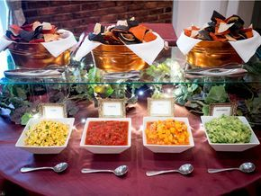 Chips And Salsa Bar Vegan Wedding At The Event Center At Blue In Bethlehem Pa Wedding Food Bars Wedding Food Stations Reception Food