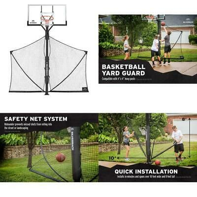 Advertisement Ebay Silverback Basketball Yard Guard Defensive Net System Rebounder With Foldable Ne In 2020 Rebounding Guard Basketball Systems