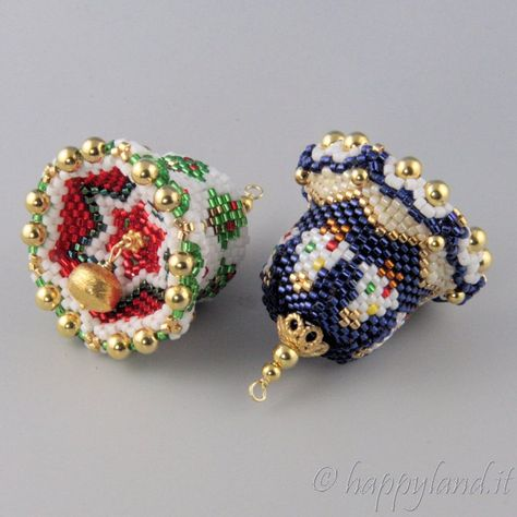 Christmas bell peyote kit and tutorial step by step   Etsy