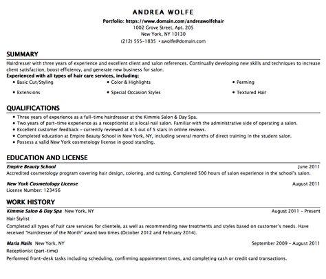 Resume Template For BabySitter -    exampleresumecvorg resume - cosmetology student resume