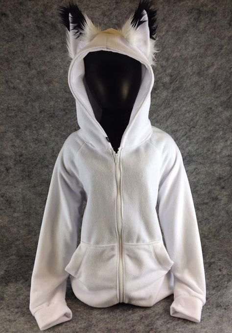 Pawstar Classic Fox Yip hoodie – jacket Ear Arctic Shadow Brown White Black Tan Grey Gray kitsune furry cosplay winter coat snow warm 6157 – Top Of The World