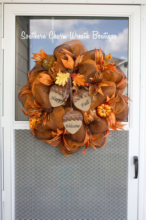 Fall Wreath Fall Wreath Fall Decor Fall Decoration by SCWBoutique