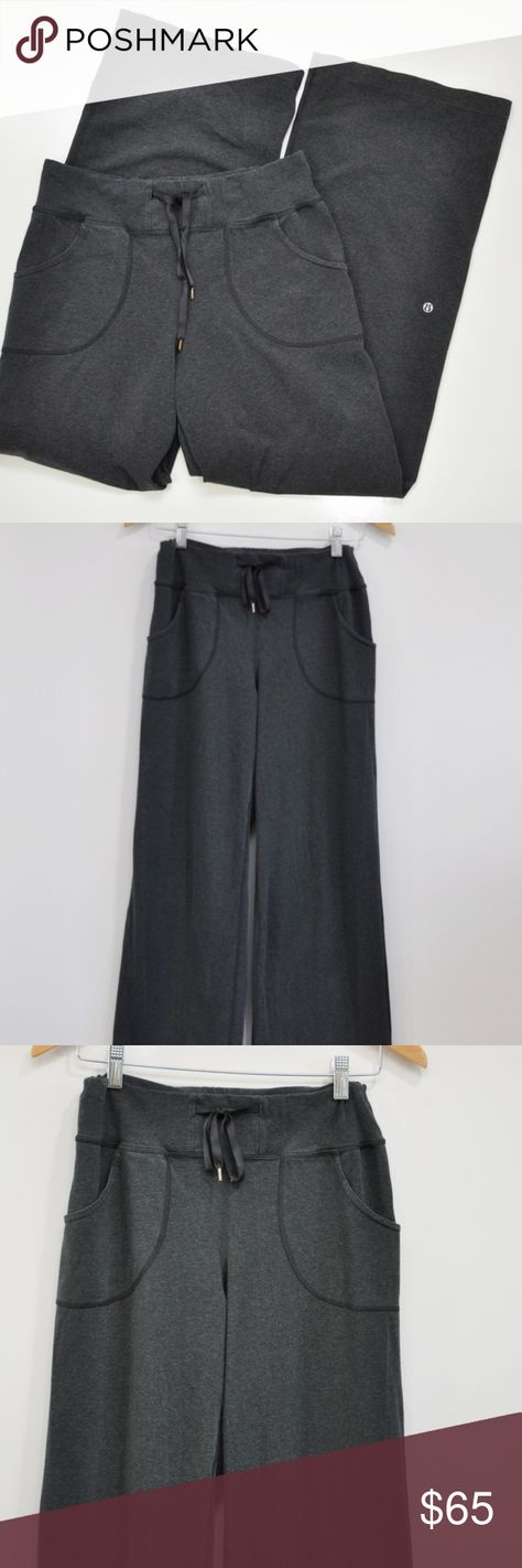a68c4cf89b4f7f Lululemon Organic Cotton Still Pants Lululemon Organic Cotton Still Pants  Size 6. Heathered Deep Coal