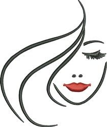 Womans Face Embroidery Designs, Machine Embroidery Designs at EmbroideryDesigns.com