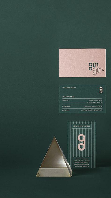GinGin bar branding identity design by studio le_m