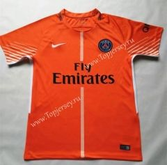 56b72b893 2017 18 Paris SG Goalkeeper Orange Thailand Soccer Jersey AAA