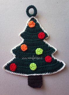 Regali Di Natale Fai Da Te Alluncinetto.Presina Uncinetto Albero Di Natale Come Si Fa Bozicni