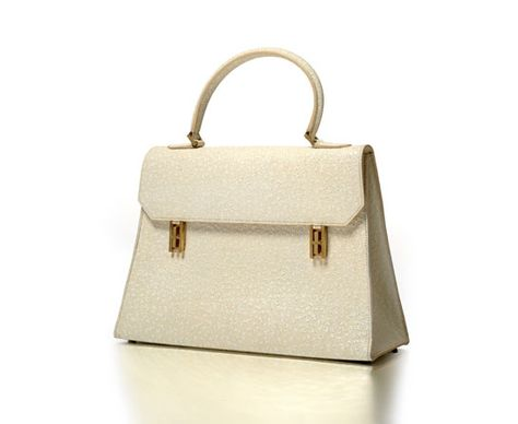 Hermès Paris Specially made Kelly bag in white whaleskin