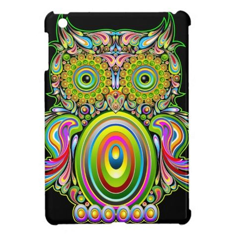 Owl Psychedelic Pop Art Design-Gufo Psichedelico Decorativo - Buy this stock vector and explore similar vectors at Adobe Stock