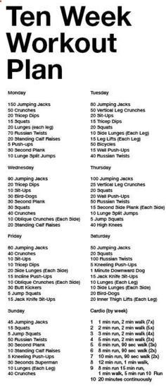 Dairy Of A Fit MomS One Week Workout Schedule  Workout