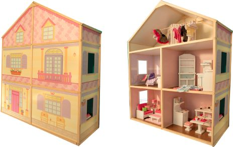 My Girl\'s Doll House...high-quality 100% pine wood frame and ...