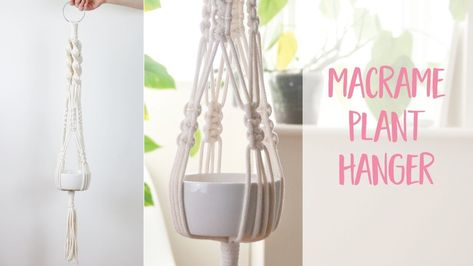 Macrame Plant Hanger How to DIY Tutorial