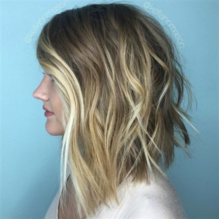 Behind The Chair - How-To:  Blunt Lob + Blonde Balayage