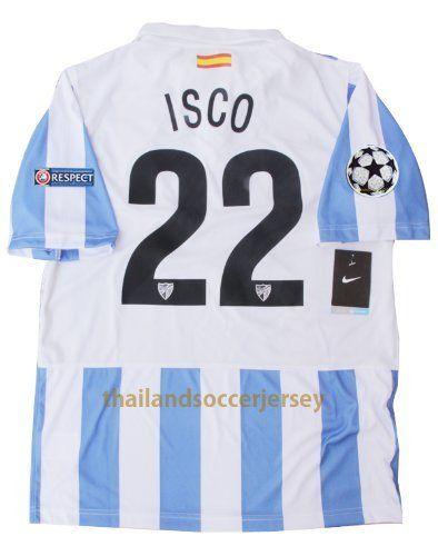 New 12 13 Malaga Cf Home Football Shirt Isco 22 Soccer Jersey Ucl Version Us Small By Thailand Football Shirt 42 99 Free Shipping To All Country Malaga