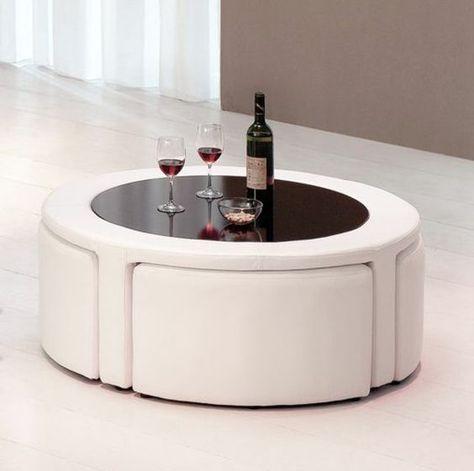 La Table Basse Avec Pouf Pour Un Style De Vie Moderne Dizajn