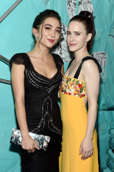 Rowan Blanchard and Rachel Brosnahan attend as Tiffany & Co. Celebrates 2018 Tiffany Blue Book Collection, THE FOUR SEASONS OF TIFFANY, at Studio 525.