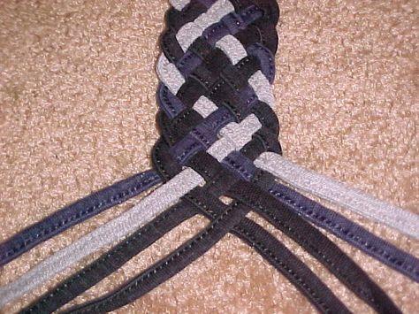 Bracelet or belt out of old jeans