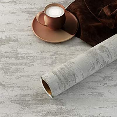 Yenhome Concrete Wallpaper Large Size 118x30 Inch Faux Concrete Peel And Stick Countertops Kitchen Wa In 2021 Concrete Wallpaper Kitchen Background Removable Wallpaper