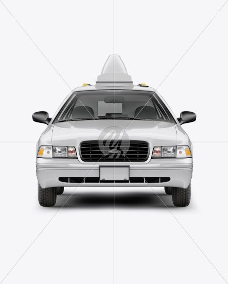 New York Taxi Mockup Front View In Vehicle Mockups On Yellow Images Object Mockups New York Taxi Mockup Free Psd Design Mockup Free
