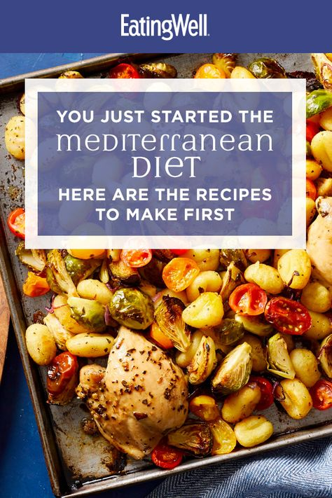 From our skillet meals to sheet-pan dinners, these Mediterranean diet recipes are perfect for beginners looking to start the new year on the right foot. Packed with wholesome ingredients like lean meat, nutrient-packed veggies and fiber-rich whole Easy Mediterranean Recipes, Easy Mediterranean Diet Recipes, Mediterranean Dishes, Clean Eating, Healthy Eating, Healthy Food, Diet Dinner Recipes, Diet Meals, Diet Foods