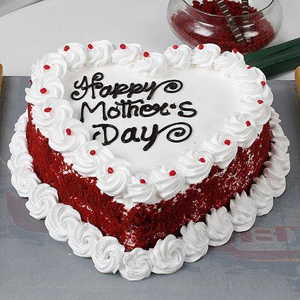 Heart Shaped Mothers Day Cake 1kg Eggless With Images Mothers