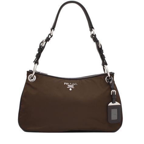 4d4feb3e94fa Prada BR4894 Tessuto Nylon Hobo Bag- Bruciato | LV Gucci Prada ...