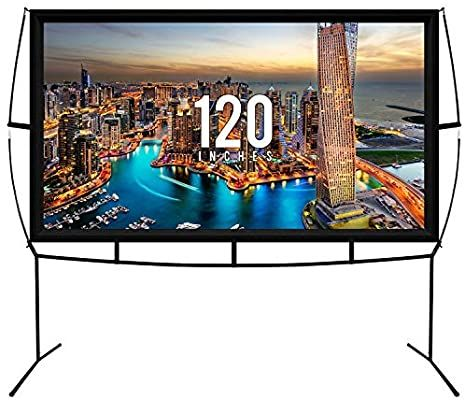 Khomo Gear Projector Screen 120 Inch Diagonal Portable Amazon Co Uk Electronics In 2020 Large Projector Screen Projector Screen Outdoor Projector