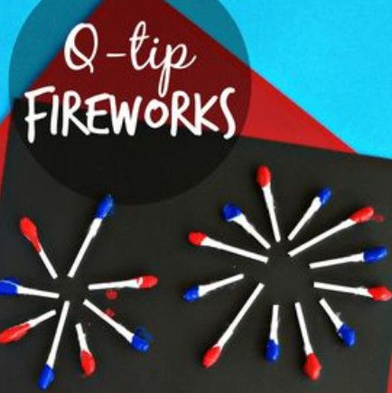 Grab those q-tips - DIY Fourth of July Crafts to Make with Your Kids - Photos