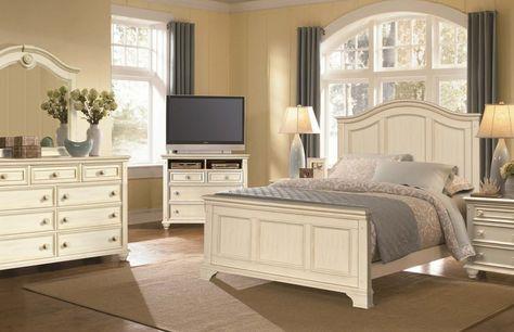 Coastal Panel Bed And Media Chest Bedroom Set Bedroom Furniture