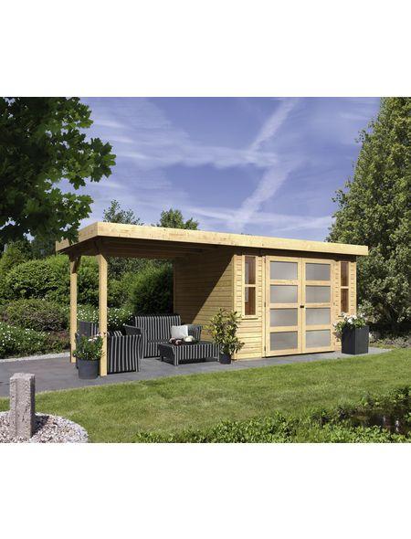 Gartenhaus Rieseby Bxt 554 X 238 Cm Flachdach In 2021 Karibu Gartenhaus Gartenhaus Garten