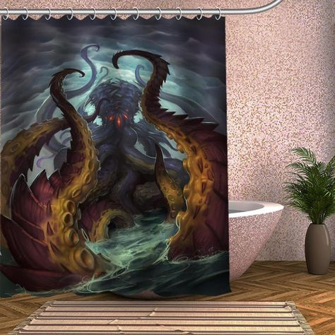 Sea Monster Shower Curtains Curtains Shower Curtain Sea Monsters