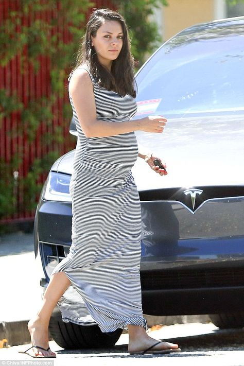 Mila Kunis was one effortlessly chic mother-to-be as she stepped out in Los angeles.