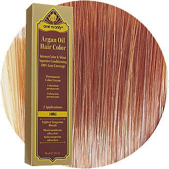 One N Only Argan Oil Hair Color 10rg Lightest Tangerine Blonde Argan Oil Hair Argan Oil Hair Color Hair Color