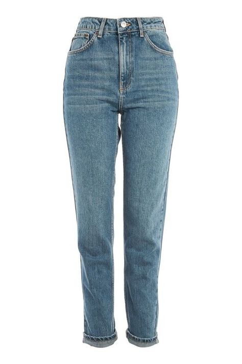 TOPSHOP Women Ripped high rise tapered