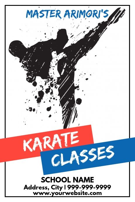 karate martial arts posters and banners