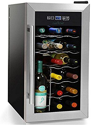 Amazon Com Nutrichef Pktewc18 12 Bottle Electric Wine Cooler Wine Chilling Refrigerator Cellar White Wine Cooler Thermoelectric Wine Cooler Wine Glass Rack