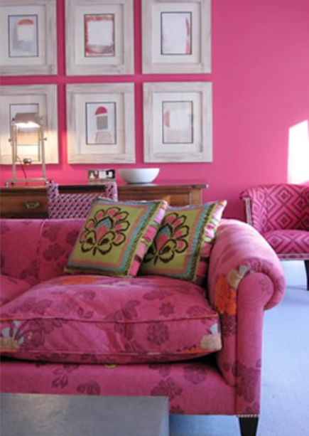 Decorate With Hot Pink In Your Home | Nest, Living rooms and Interiors