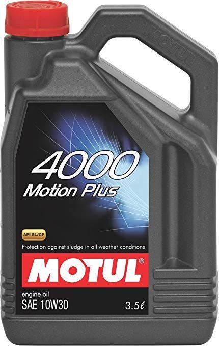 Motul 4000 Motion Plus 10w 30 Api Sl Cf Engine Oil For Gasoline