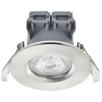 Lap Fixed Led Downlight Brushed Nickel 370lm 5w 220 240v Downlights Led Brushed Nickel