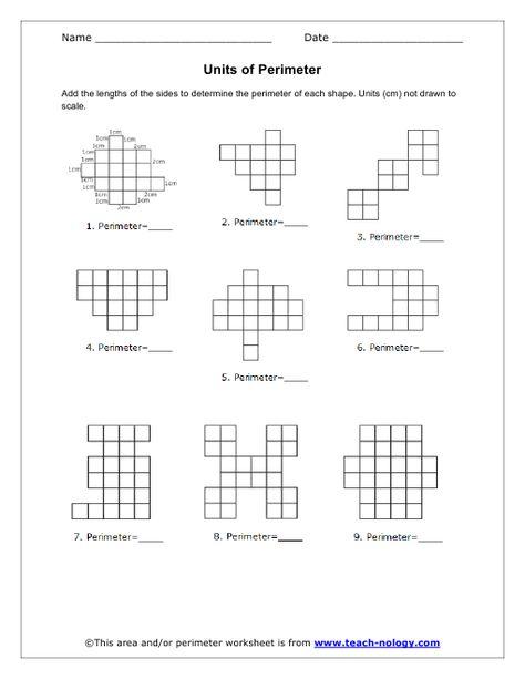 Units Of Perimeter Perimeter Worksheets Worksheets Math Intervention