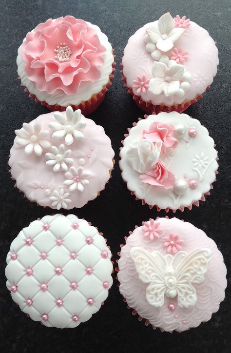 Next Post Previous Post Pretty chic cupcakes Next Post Previous Post Elegant Cupcakes, Fancy Cupcakes, Beautiful Cupcakes, Wedding Cupcakes Fondant, Spring Cupcakes, Fondant Cupcake Toppers, Cupcake Cookies, Cute Desserts, Fondant Flowers
