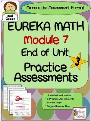 2nd Grade Eureka Math Module 7 End of Unit Assessment Practice Tests