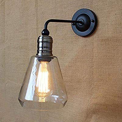 Vintage Glas Wandleuchte Rustikale Land Metall Wandlampen Bar Schlafzimmer Badezimmer Treppe Spiegel Lampen Wandleuchten Loft Wandlampen Wandbeleuchtung Lampen
