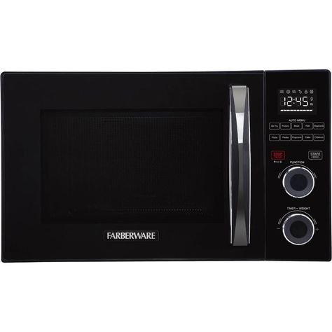 Farberware 1 Cu Ft 1000 Countertop Convection Microwave Black Fmo10ahsbka In 2020 Convection Microwaves Countertop Microwave Oven Farberware